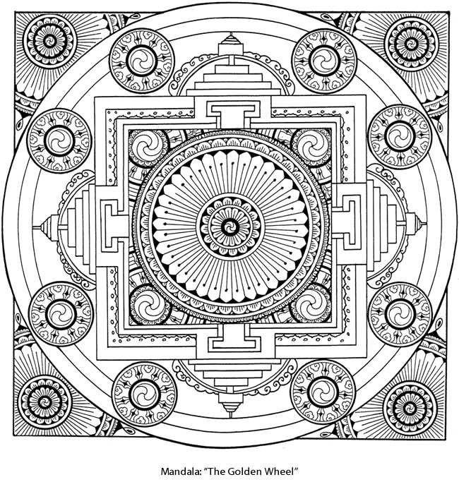 Welcome To Dover Publications Tibetan Mandala Coloring Pages