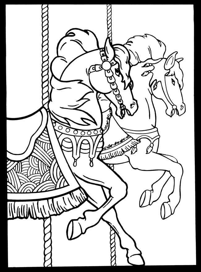 The Gallery For Gt Carousel Coloring Page