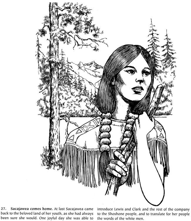 Map Lewis And Clark Expedition Coloring Pages Coloring Pages Sacagawea Coloring Page