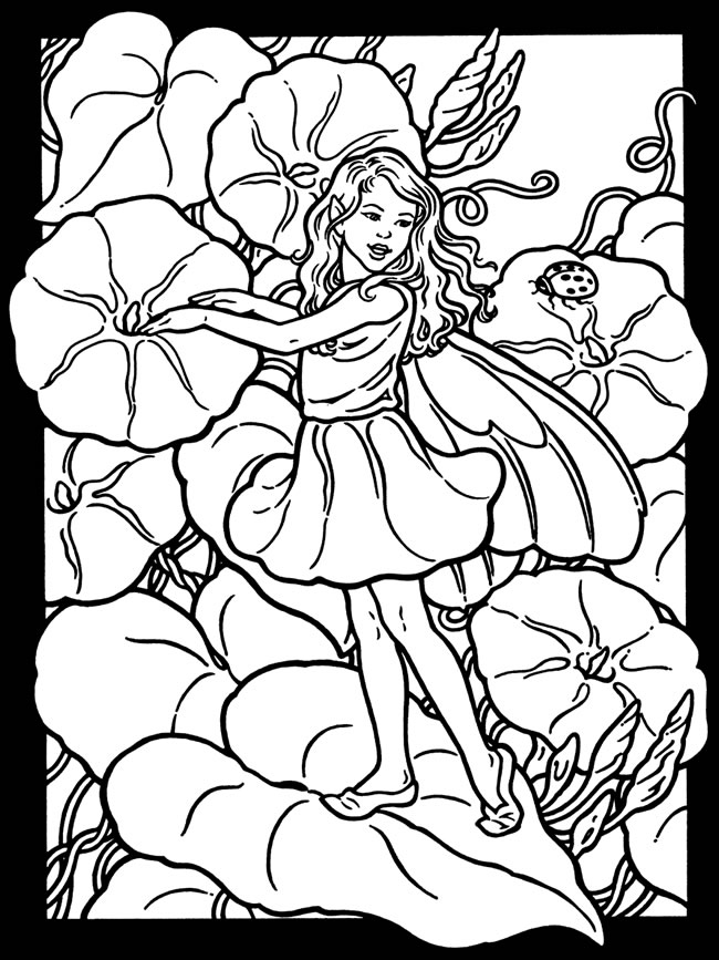 garden pixie coloring pages - photo #20