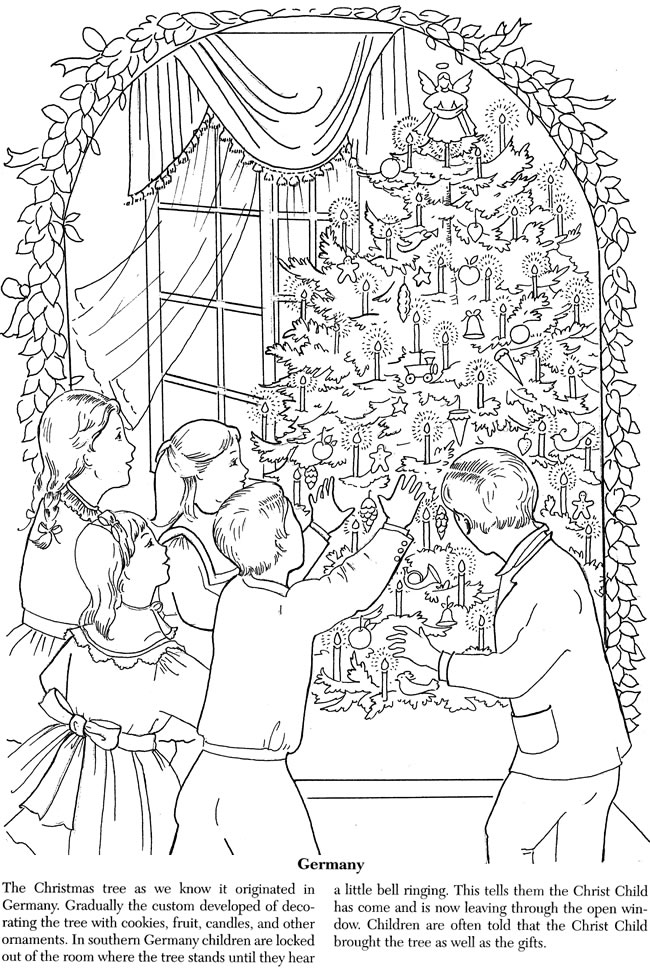 Christmas Traditions Around The World Coloring Pages ...