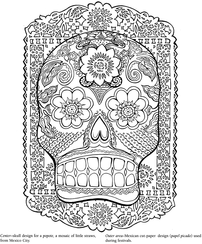 Welcome To Dover Publications Mexican Folk Coloring Pages