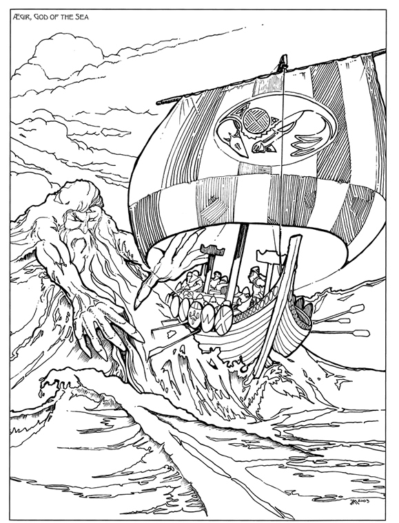 Norse Mythology Colouring Pages