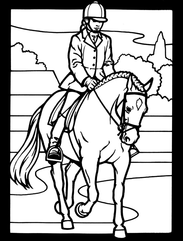 the saddle club coloring pages | Welcome to Dover Publications