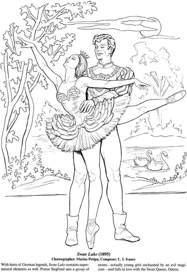 ballet coloring pages for adults - photo#18