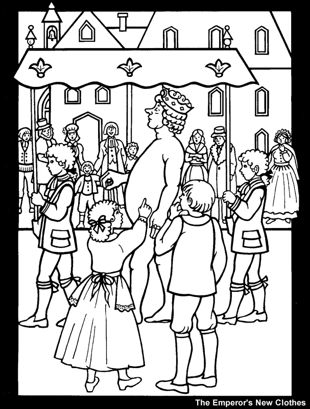 h c andersen coloring pages - photo #36