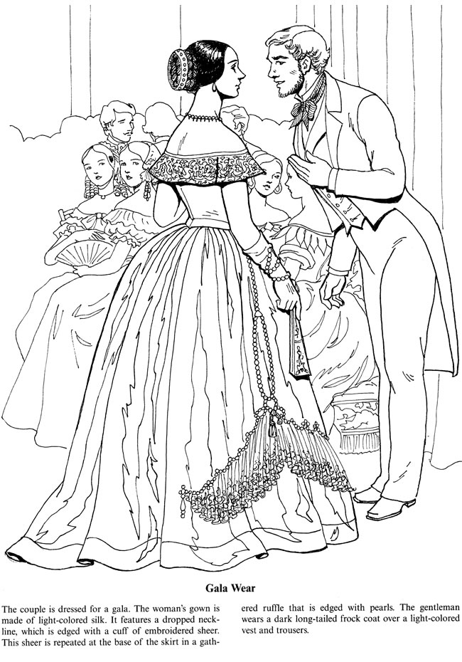 Welcome To Dover Publications Fashionable Coloring Pages 2
