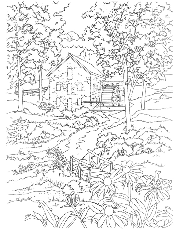 coloring pages scenery - photo#27