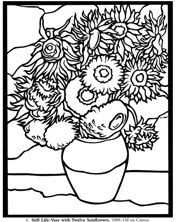 free coloring pages of vincent van gogh Vincent Van Gogh Ear  Coloring Book Vincent Van Gogh