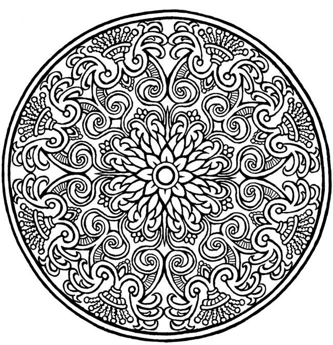 Welcome To Dover Publications Mystical Mandala Coloring Pages