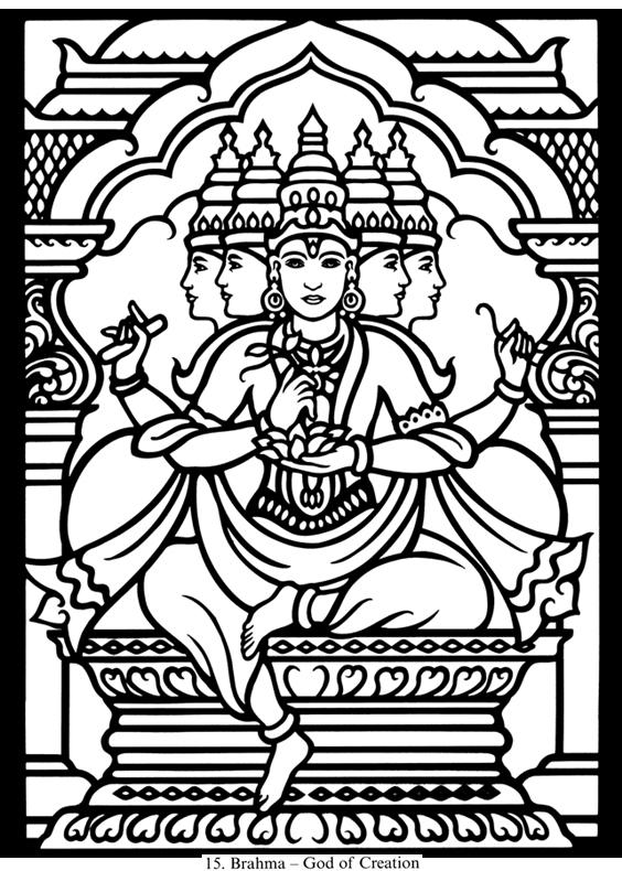 hindu gods printable coloring pages - photo#11