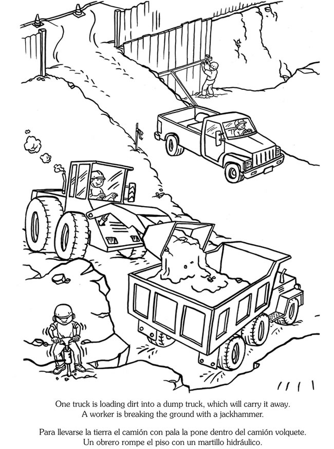coloring pages sites | Construction Site Coloring Pages