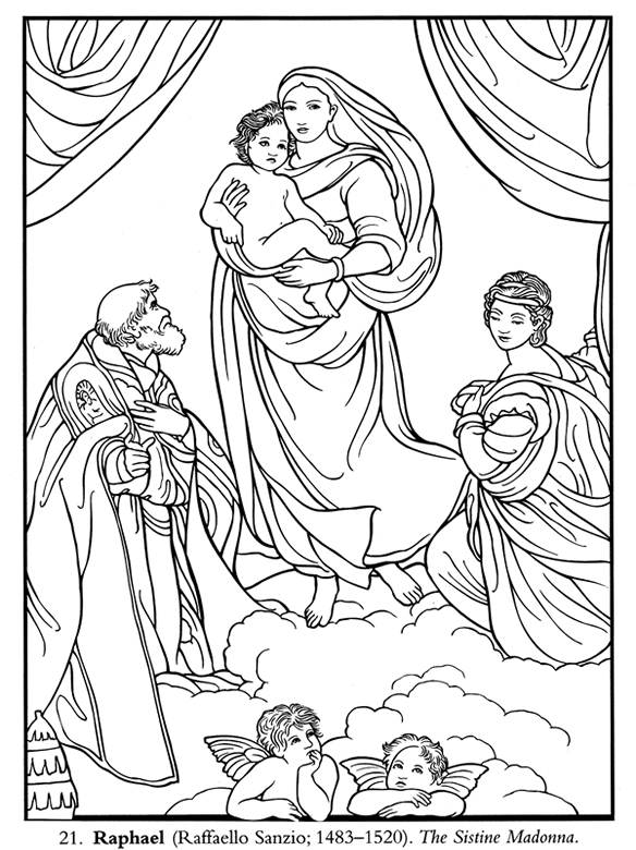Welcome to dover publications for Coloring pages art masterpieces