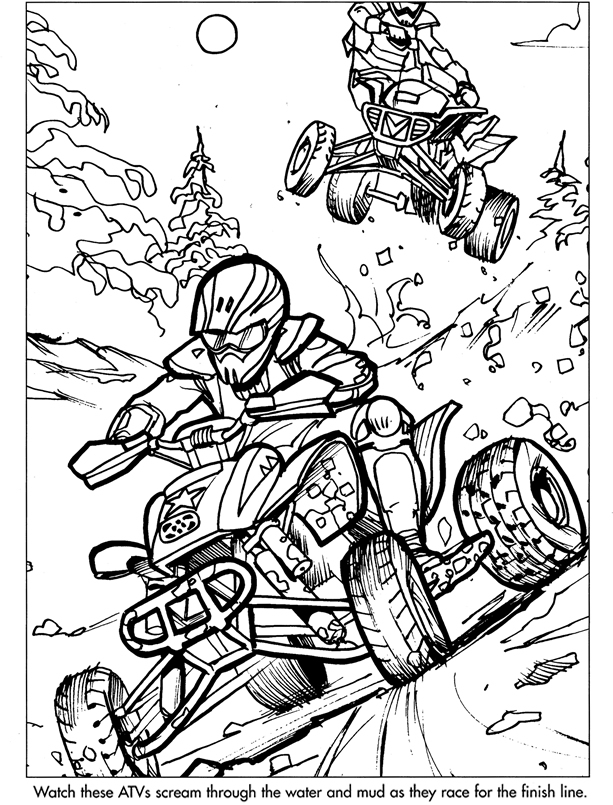 Coloring pages 4wheelers ~ Three Wheeler Coloring Pages Coloring Pages