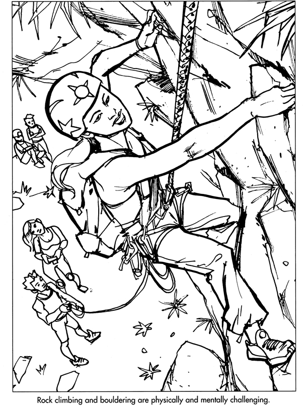 mountain climber coloring pages - photo#33