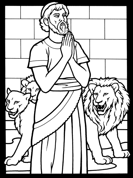 Colouring Pages For Daniel In The Lions Den Daniel And