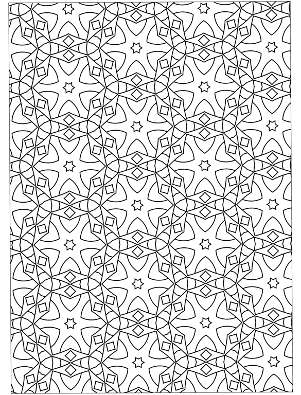 Free Coloring Pages Of Geometric Designs Coloring Pages Free Printables Geometric Designs