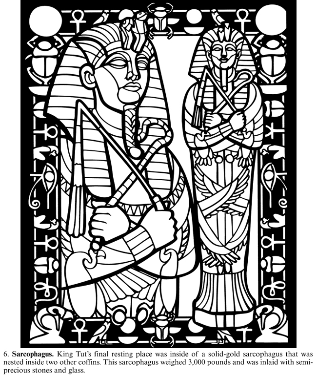 Free Coloring Pages Of Egypt Tomb King Tut Coloring Pages