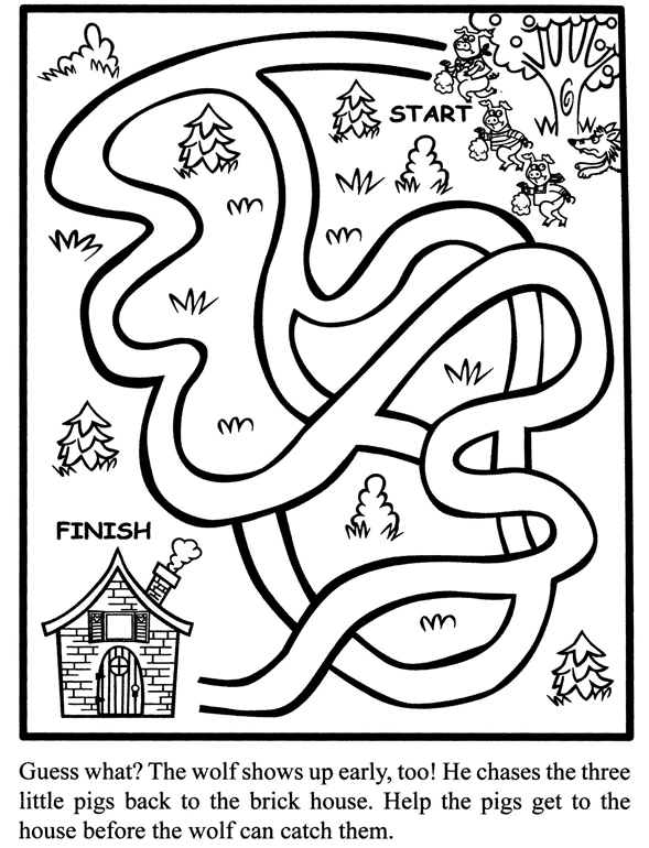 3 little pigs coloring pages coloring pages