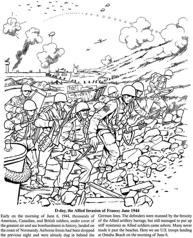 Free Coloring Pages Of Ww2 D Day World War 2 Colouring Pages