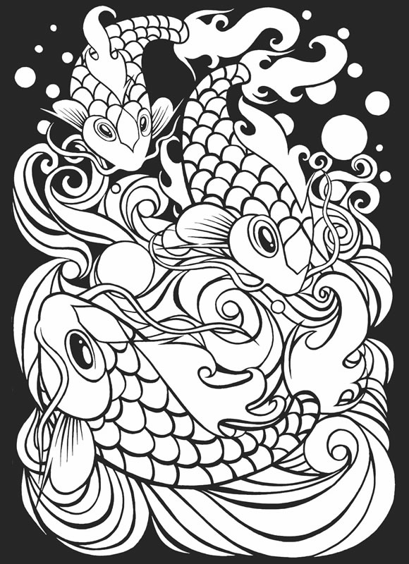 japanese art coloring pages - photo#6