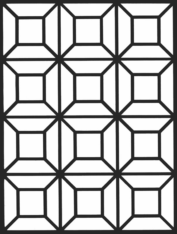 coloring pages geometric staind glass - photo#3