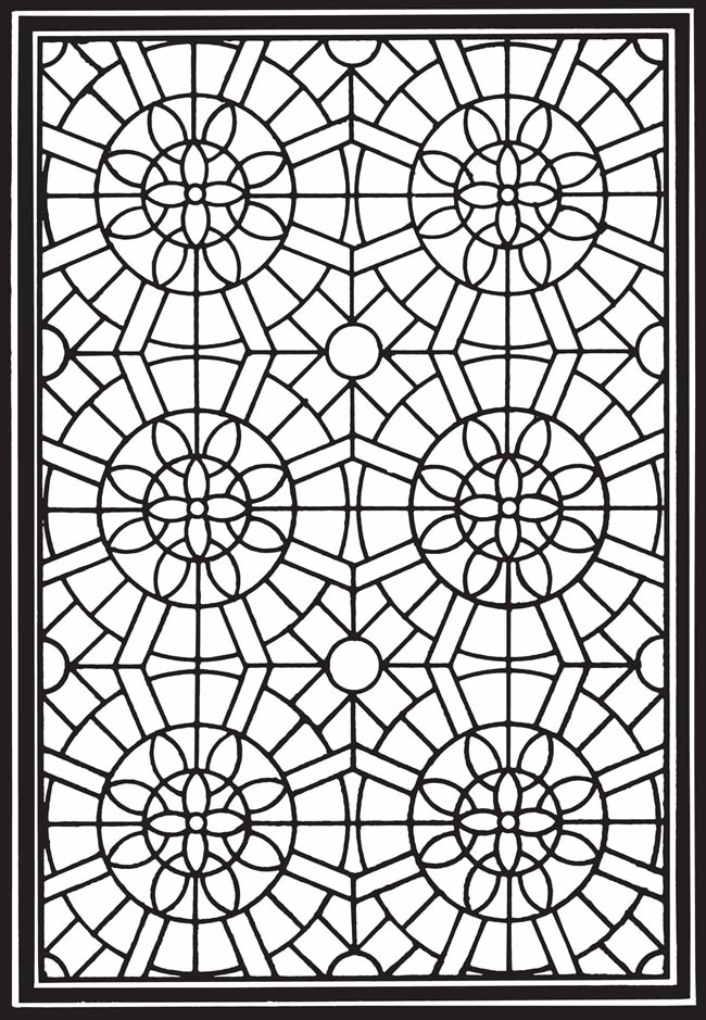 coloring pages geometric staind glass - photo#7