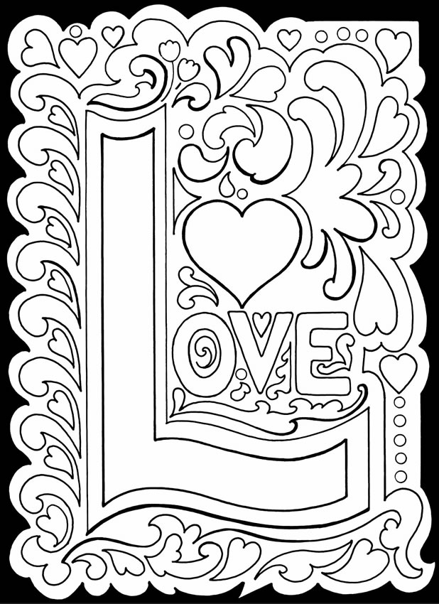 Printable Coloring Pages For Adults Love : Welcome to dover publications