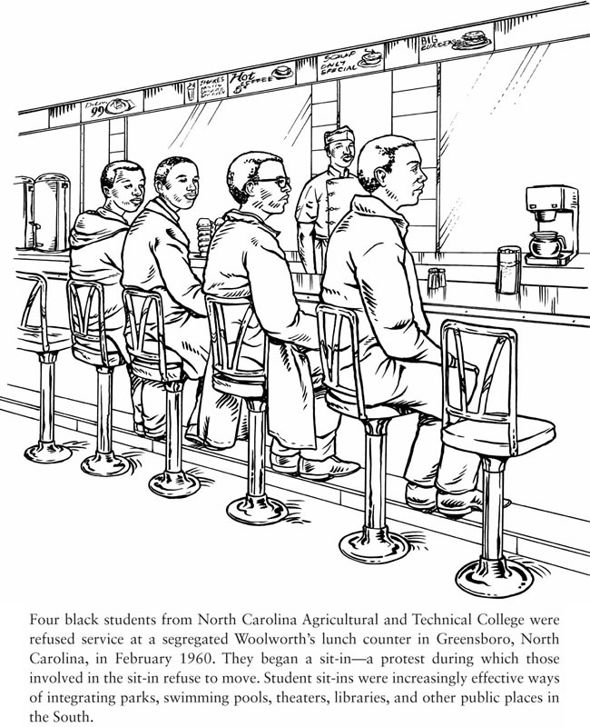 Welcome To Dover Publications Civil Rights Movement Coloring Pages