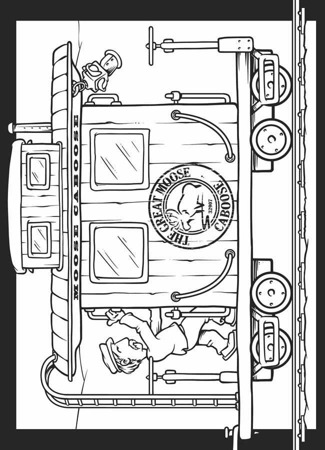 free train all aboard coloring pages