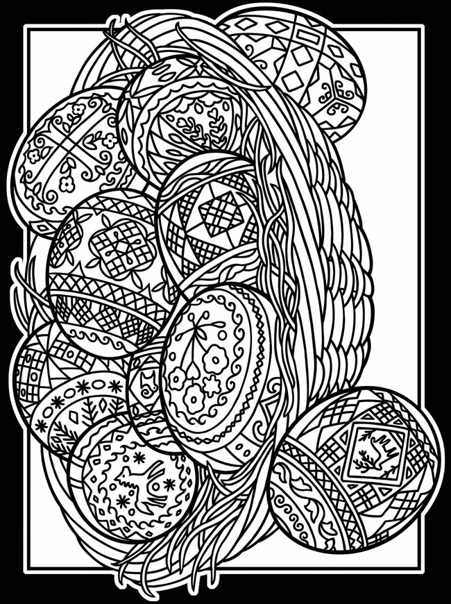 ukraine eggs coloring pages - photo#27