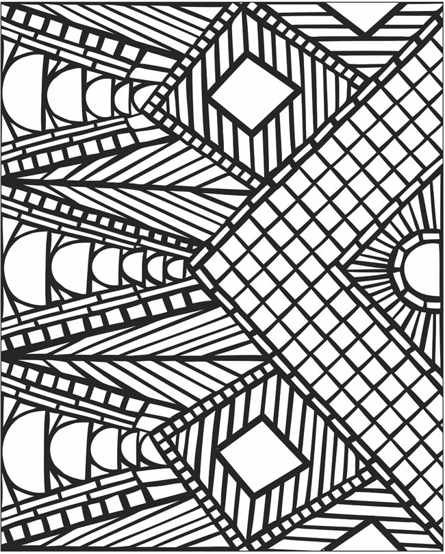 Printable mosaic coloring pages for adults | Mosaic patterns ... | 809x650