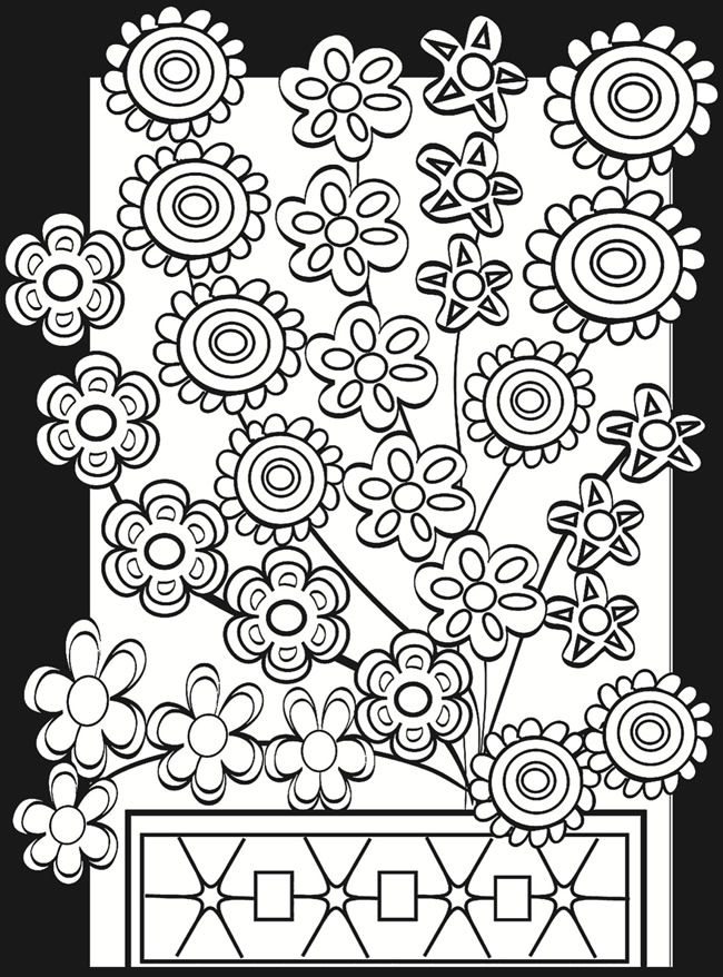 flower power coloring pages - photo#23