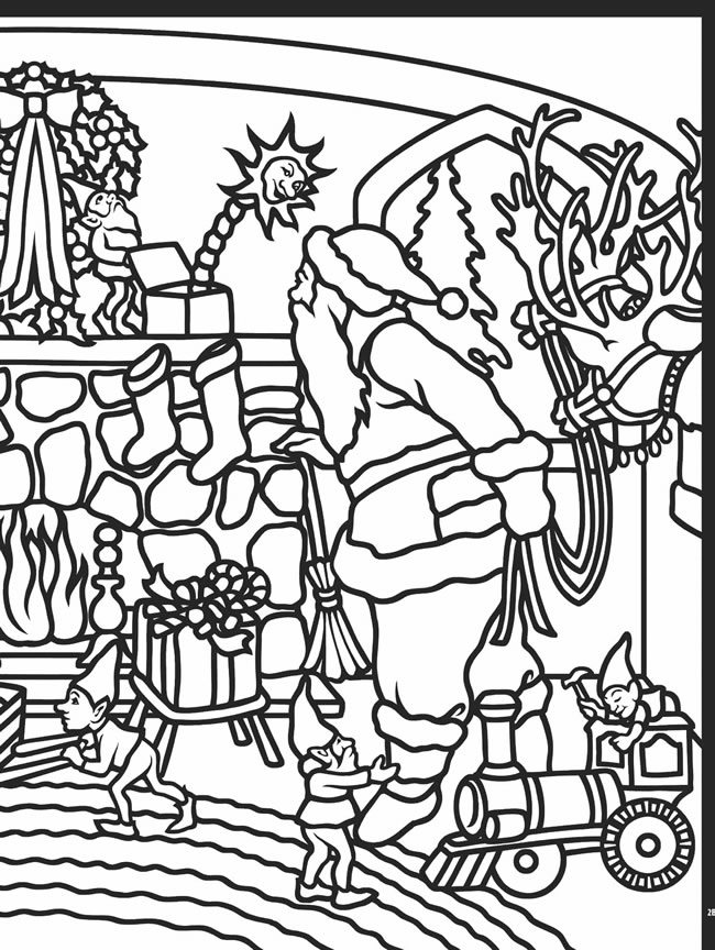 Welcome to dover publications for Christmas stained glass coloring page