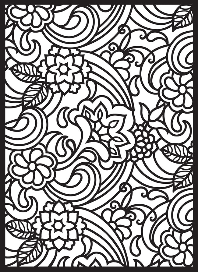 Free Coloring Pages Of Paisley Pattern