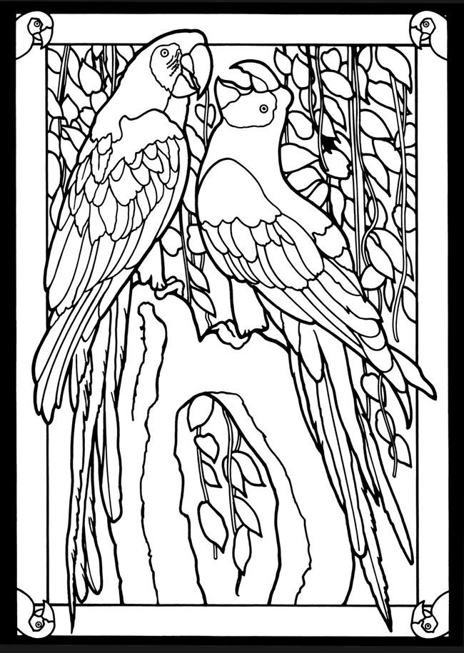 Glass Cross Coloring Pages