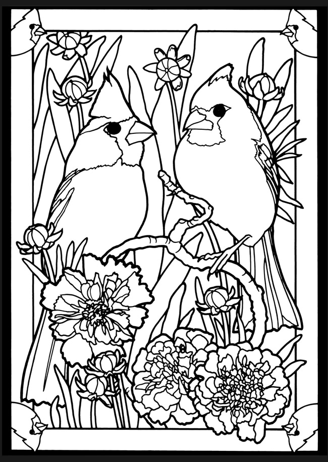 Free Stained Glass Angel Coloring Pages