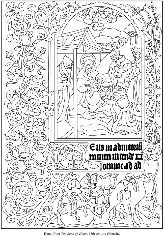 illuminated alphabet coloring pages free - photo#11