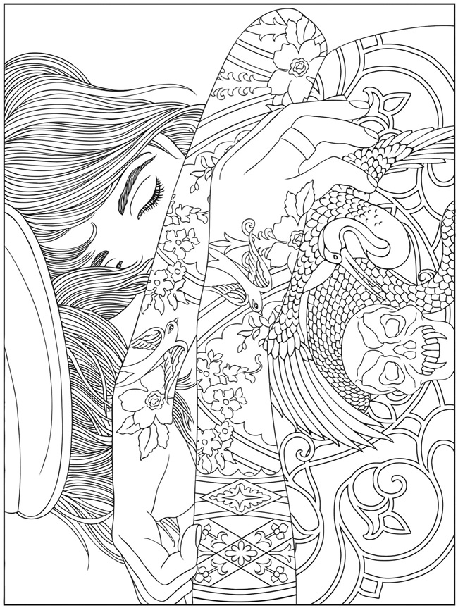 designs trippy Colouring Pages