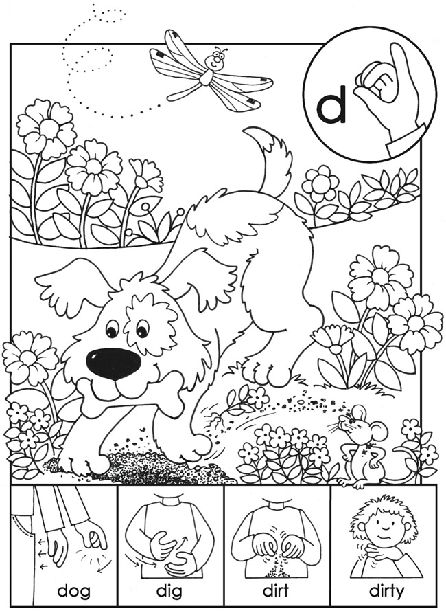 l asl coloring pages - photo #37