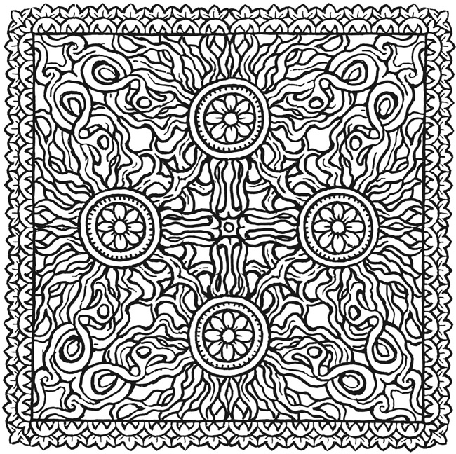 Free Coloring Pages Of Square Mandala Printable