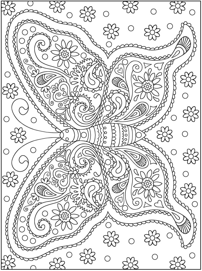 Mehndi Designs Colouring Pages