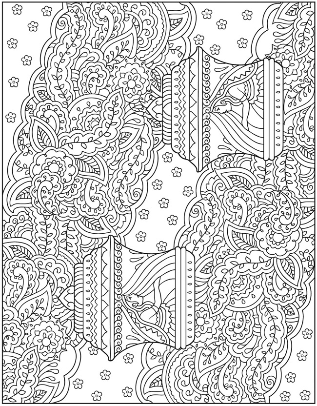 mehndi designs coloring book pages - photo#3