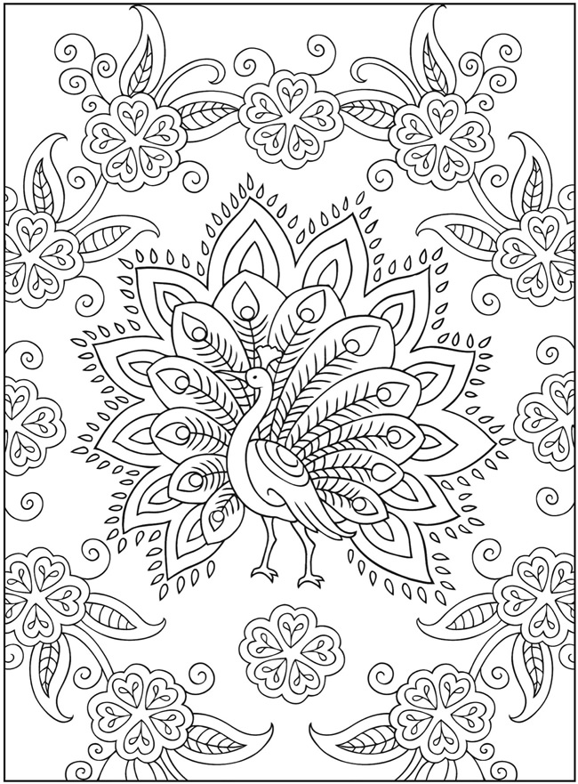 Henna coloring sheets coloring pages for Henna coloring pages