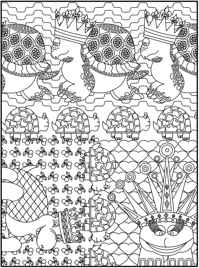 Coloring Pages Designs Animals : Welcome to dover publications