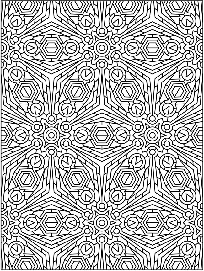 Tessellation Coloring Page