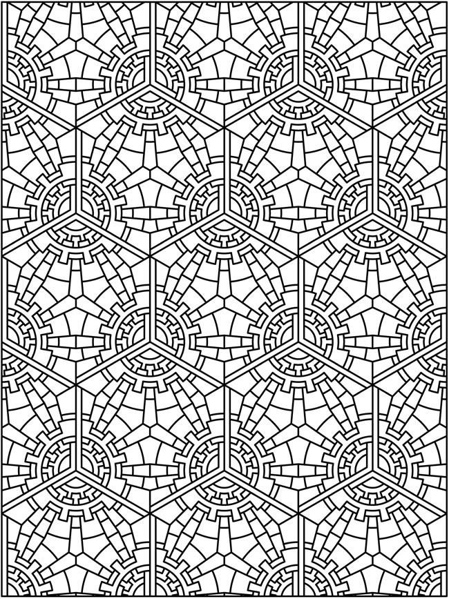 patterned designs coloring pages - photo#25