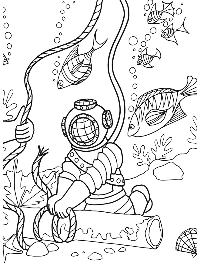 deep sea animals coloring pages - photo#19