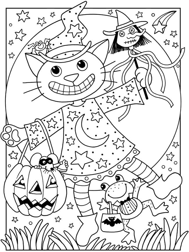 Coloriage Ferme Cp.Coloriages D Halloween L Ecole De Crevette