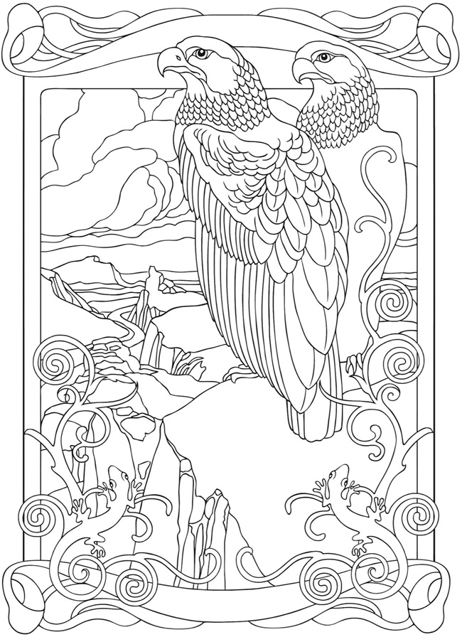 Art nouveau designs coloring pages for Art nouveau shapes